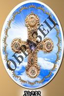 Фотокерамика крест на овале