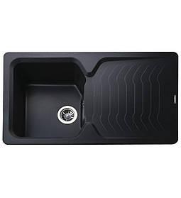 Гранітна мийка Globus Lux BOREN чорний 860х500мм-А0002