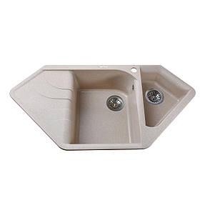 Гранітна мийка Globus Lux GARDA піщаний 1000х500мм-А0004