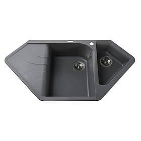 Гранітна мийка Globus Lux GARDA сірий металік 1000х500мм-А0003