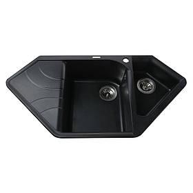 Гранітна мийка Globus Lux GARDA чорний 1000х500мм-А0002