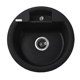 Гранітна мийка Globus Lux GURON чорний металік 480мм-А0001