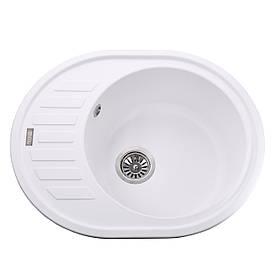 Гранітна мийка Globus Lux ARNO білий 620х500мм-А0007