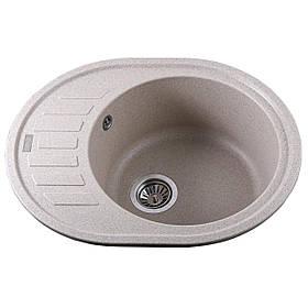 Гранітна мийка Globus Lux ARNO піщаний 620х500мм-А0004
