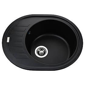 Гранітна мийка Globus Lux ARNO чорний 620х500мм-А0002