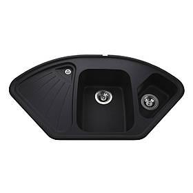 Гранітна мийка Globus Lux AVERNO чорний металік 1060х575мм-А0001