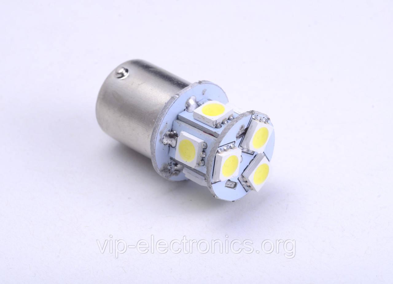 Світлодіодна автолампи для цоколя T25-5050-8SMD 1157 (24V) white