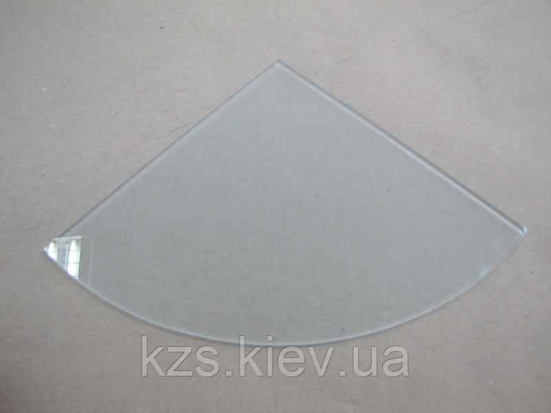 Полка радиусная из матового стекла толщиной 4 мм. 200х200мм