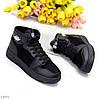 Чорні теплі об'єднані спортивні жіночі черевики кросівки зима 2021, фото 6