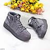 Сірі замшеві спортивні жіночі черевики кросівки в асортименті, фото 2