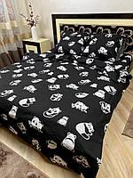 """Хлопковое постельное белье из ткани бязь расцветки """"Панда"""""""