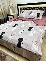 """Хлопковое постельное белье из ткани бязь расцветки """"Розовые очки"""""""