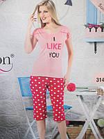 Хлопковые пижамы с бриджами молодежные., фото 1
