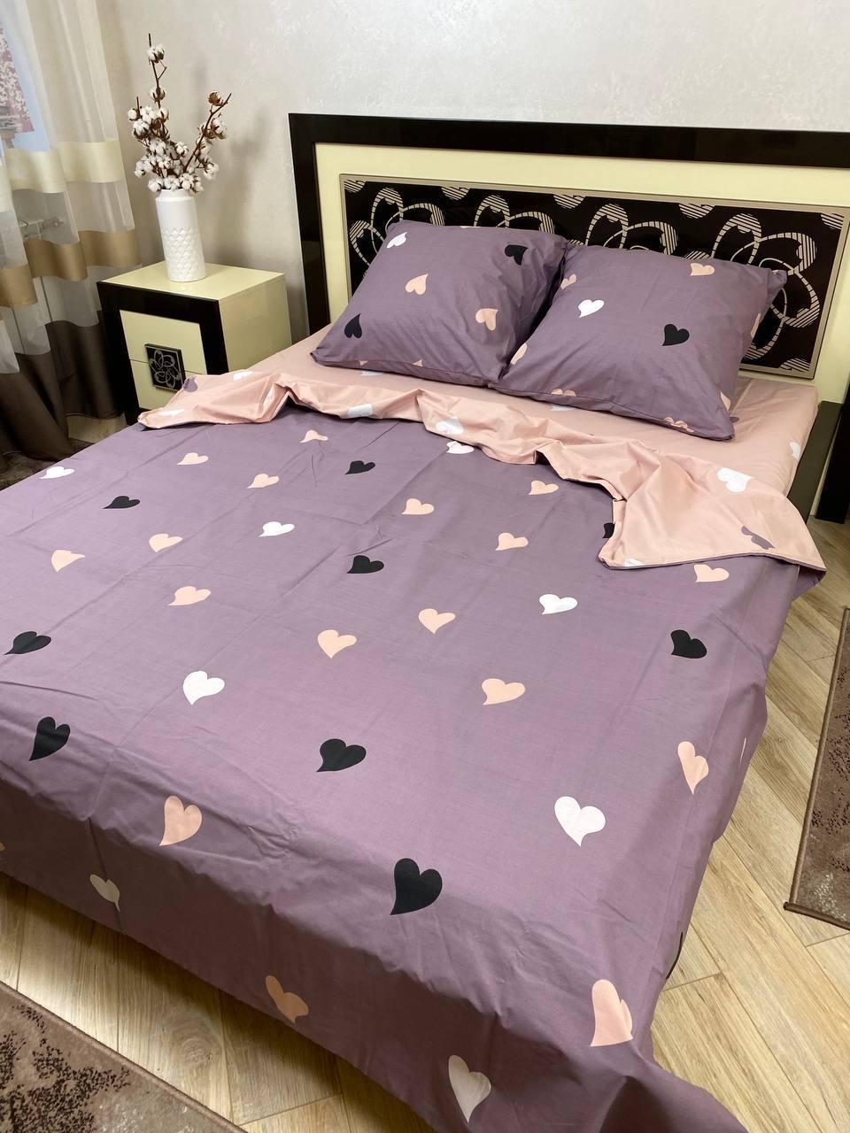 """Хлопковое постельное белье из ткани бязь расцветки """"Летняя романтика"""""""