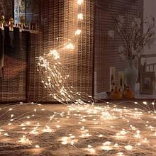 """Гірлянда """"Кінський хвіст"""" 200 LED: 10 ліній по 2 м, 20 діодів/ нитка, колір - тепло-білий"""