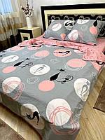 """Хлопковое постельное белье из ткани бязь расцветки """"Гламурная кошка"""""""