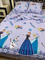"""Детское хлопковое постельное белье из ткани бязь расцветки """"Холодное сердце"""", фото 1"""