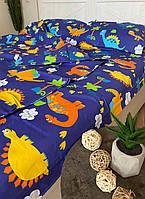"""Детское хлопковое постельное белье из ткани бязь расцветки """"Дино"""", фото 1"""