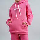 """Стильный теплый костюм для девочки """"Anita"""". Утепленный флисовый спортивный костюм с капюшоном на девочку, фото 3"""