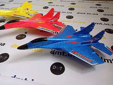 Літак на радіоуправлінні, модель винищувач MI-29 Жовтий