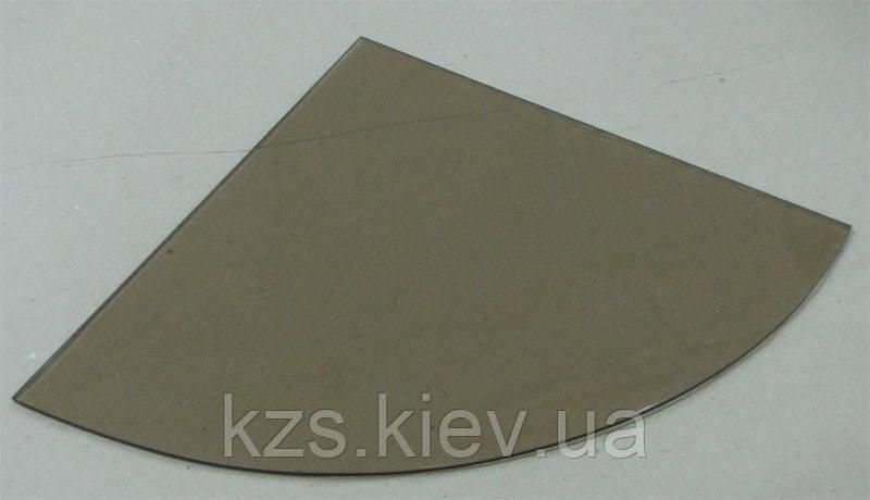 Полка радиусная из стекла бронза толщиной 5 мм. 250х250мм