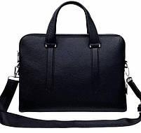 Чоловіча шкіряна сумка-портфель чорна Vintage 13678, фото 3