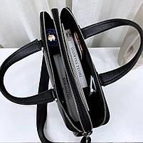 Чоловіча шкіряна сумка-портфель чорна Vintage 13678, фото 4