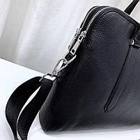 Чоловіча шкіряна сумка-портфель чорна Vintage 13678, фото 6