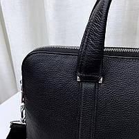 Чоловіча шкіряна сумка-портфель чорна Vintage 13678, фото 7