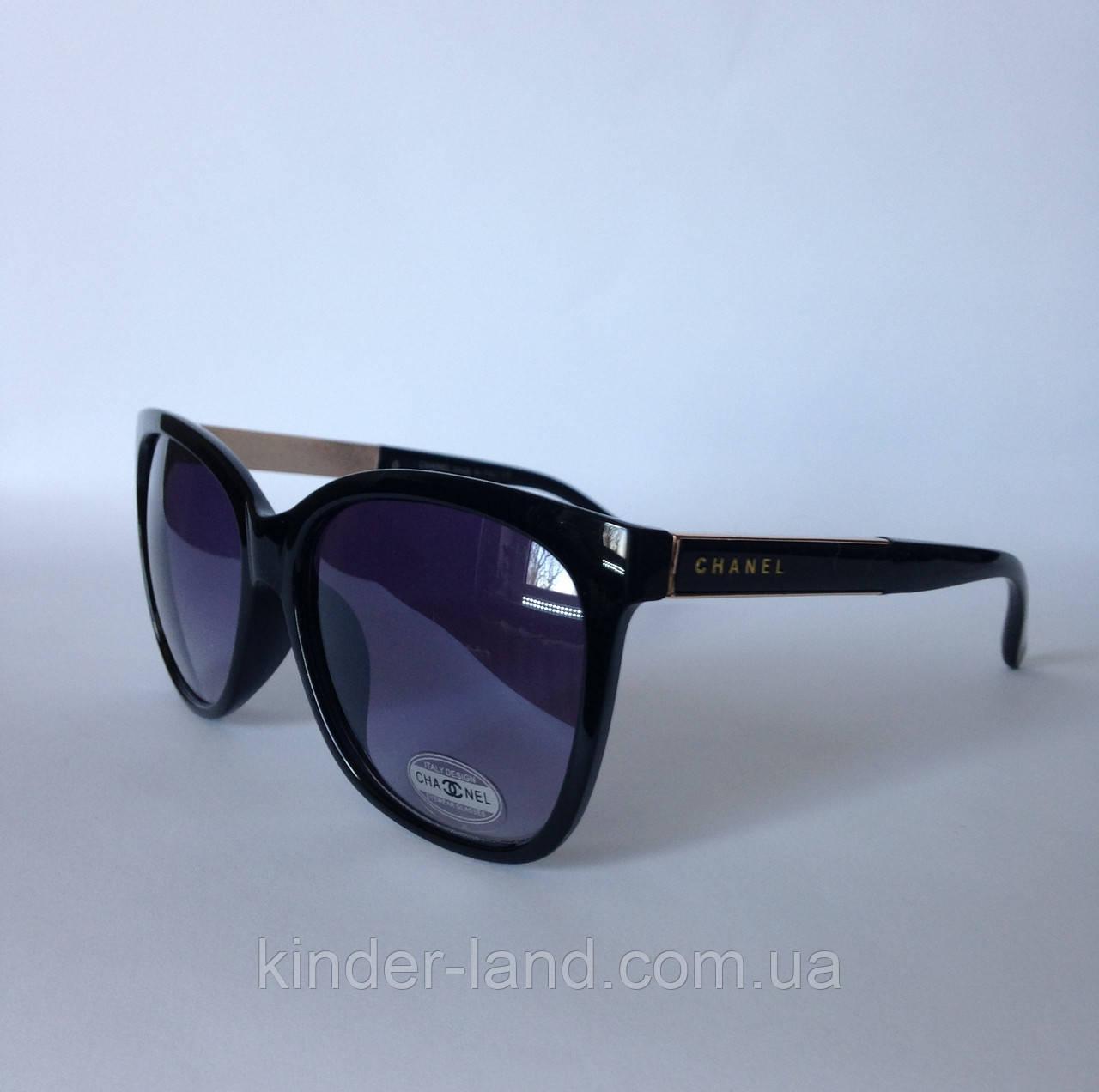 Женские солнцезащитные очки Chanel 987 черные - Интернет-магазин