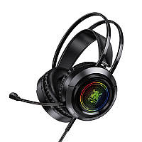 Наушники игровые BOROFONE BO103 Surpass Gaming с микрофоном LED, черные