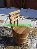 """Набір меблів """"МАКСІ плюс"""" з дубових бочок для лазні та сауни., фото 3"""