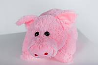 """М'яка іграшка Yarokuz подушка """"Свинка"""" 50 см Рожева, фото 1"""
