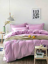 Комплект постельного белья Сатин Stripe PINK ROSE 1/1см (Полуторный)