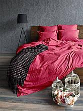 Комплект постельного белья Сатин Stripe CHERRY 1/1см (Полуторный)