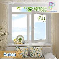 """Окно с фрамугой Rehau Ecosol 70 1400х1700 Киев. """"Окна Маркет"""", фото 1"""