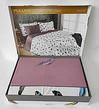Постельное белье Maison D'or сатин семейный Pulume Volante Dark Lilac