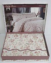 Постельное белье Maison D'or сатин 160х220 Lady Roses White