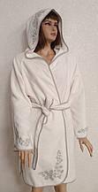 Халат жіночий Maison d'or Vignetta Ecru-Grey S