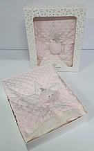 Плед дитячий в коробці рожевий - 31