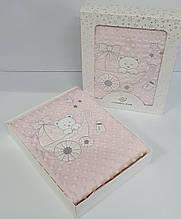 Плед дитячий в коробці рожевий - 32