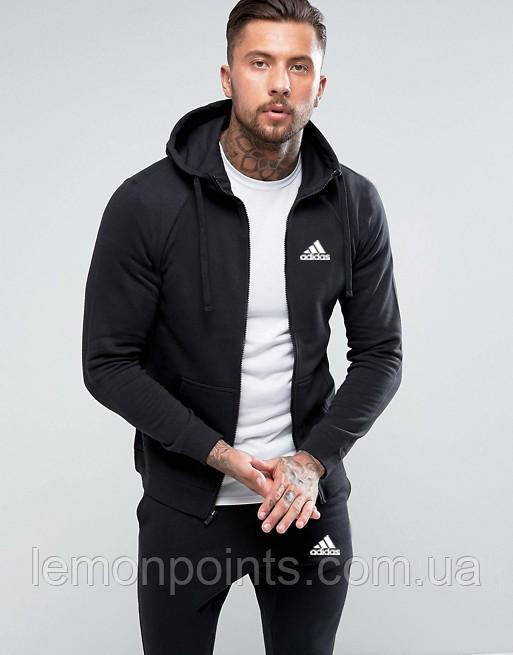 Мужской спортивный костюм на молнии Adidas (Адидас) черный