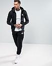 Мужской спортивный костюм на молнии Adidas (Адидас) черный, фото 2