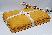 Плед вафельний Casual 200х220см жовтий