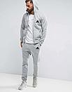 Чоловічий спортивний костюм на блискавці Adidas (Адідас) сірий, фото 2