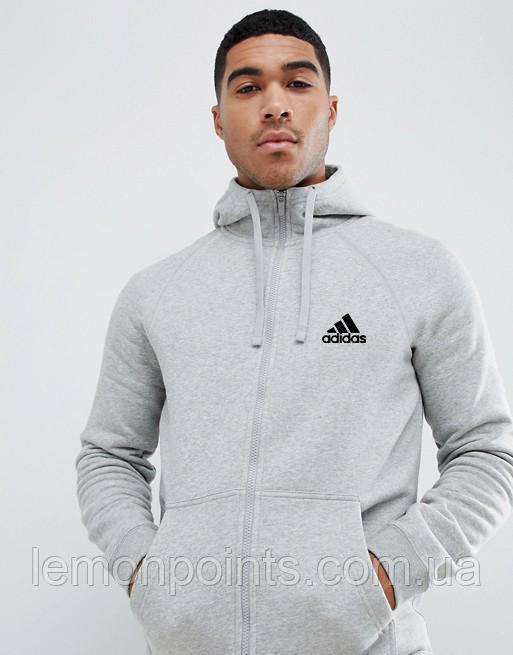 Чоловічий спортивний костюм на блискавці Adidas (Адідас) сірий