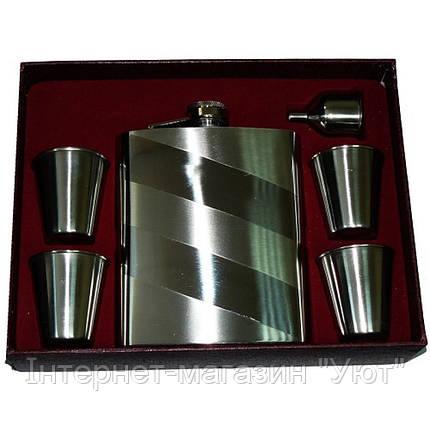 Подарочный набор, фляга + стаканы + лейка, фото 2