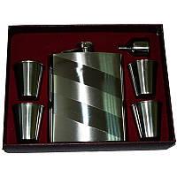 Подарочный набор, фляга + стаканы + лейка