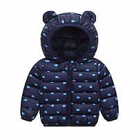 Демисезонная курточка мальчику синяя 3539