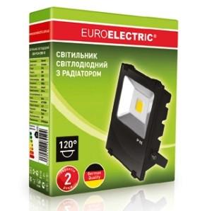 Прожектор LED COB 30 Вт 6500К с радиатором черный Euroelektric